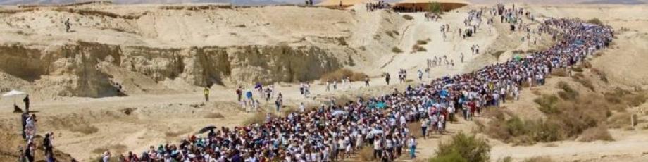 Mulheres árabes e judias marcham pela paz entre Israel e palestinos (Foto: Divulgação Women Wage Peace)